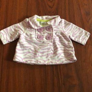 CARTERS newborn girls purple zebra coat